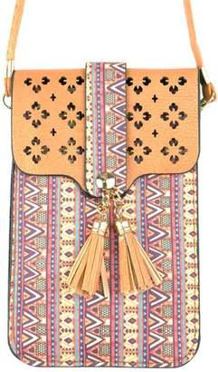 Riah Fashion Aztec-Cellphone Cross-Body-Bag