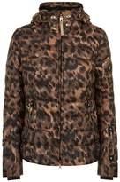 Bogner Leopard Print Down Filled Coat