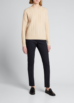 Max Mara Breda Wool-Cashmere Cable-Knit Sweater