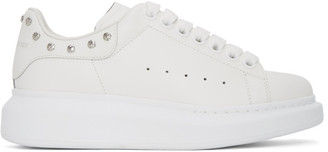 Alexander McQueen SSENSE Exclusive White Studded Oversized Sneakers