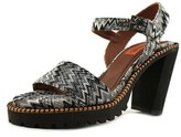 Missoni Dress Sandals Women Open Toe Canvas Black Sandals.