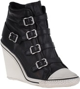 Ash Thelma Wedge Sneaker Black Leather