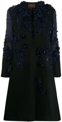 Biyan floral applique coat