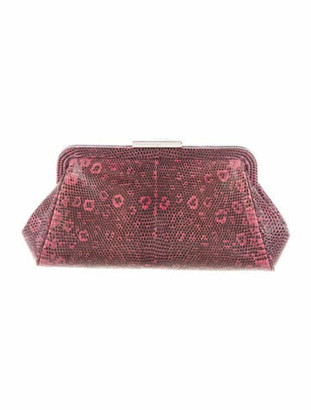 Tiffany & Co. Lizard Frame Clutch Pink