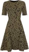 Vince Camuto Gold jacquard jersey dress