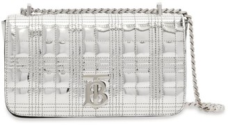 Burberry Metallic Leather Quilted Lola Bag