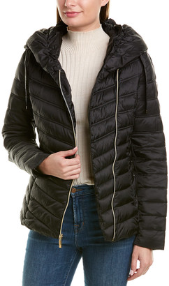 Laundry by Shelli Segal Asymmetrical Puffer Coat