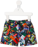 Kenzo printed swim shorts - kids - Polyester - 36 mth