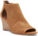 Donald J Pliner Women's JACE - Perforated Oily Suede and Calf Leather Peep-Toe Wedge