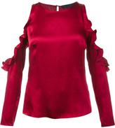 Cushnie et Ochs cut-out ruffle blouse
