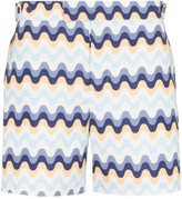Frescobol Carioca Copacabana wave pattern swim shorts