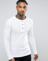 G Star G-Star Gunner Long Sleeve Top in Grandad Collar