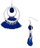 Aqua Lauren Pom-Pom and Tassel Drop Earrings - 100% Exclusive