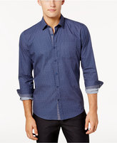 Ryan Seacrest Distinction Ryan Seacrest Distinctionandtrade; Men's Blue Chambray Button Placket Woven Shirt, Created for Macy's