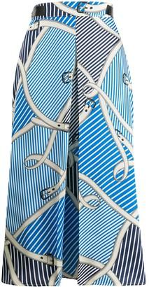 MSGM Mixed Print Wrap Skirt