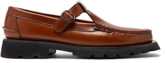 Hereu Alber Tread-sole T-bar Leather Loafers - Tan
