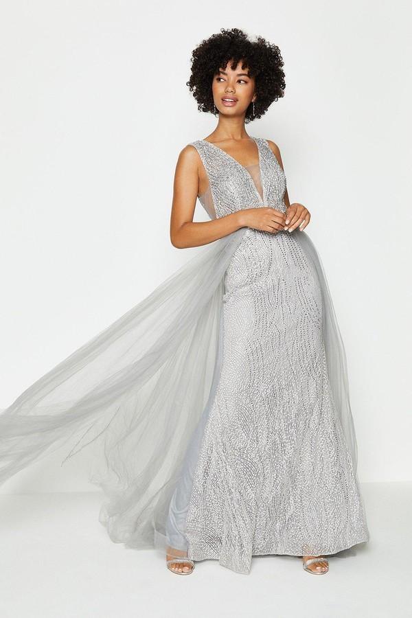 Coast Tulle Overskirt Maxi Dress