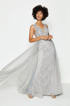 Coast Tulle Overskirt Maxi Dress