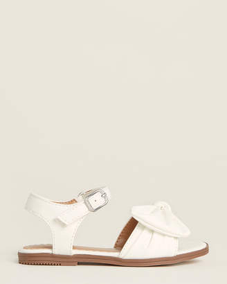 Nine West Infant/Toddler Girls) White Keirita Flat Sandals