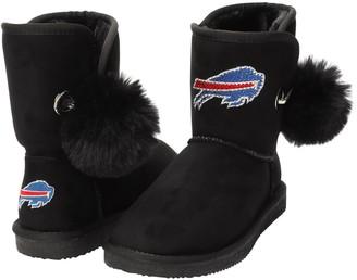Women's Cuce Black Buffalo Bills The Fumble Faux Fur Boots