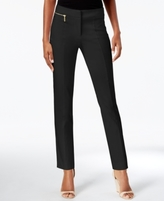 JM Collection Petite Zip-Detail Ankle Pants, Created for Macy's