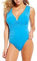 Vince Camuto Fiji Solids Shirred Surplus One-Piece