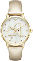 Kate Spade Women's Metro New York Gold-Tone Leather Strap Watch 34mm KSW1298