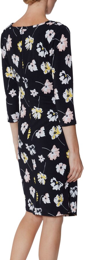 Thumbnail for your product : Gina Bacconi Keri Floral Jersey Dress, Navy/Multi