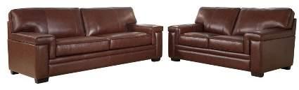 Sensational Top Grain Leather Sofa Shopstyle Machost Co Dining Chair Design Ideas Machostcouk