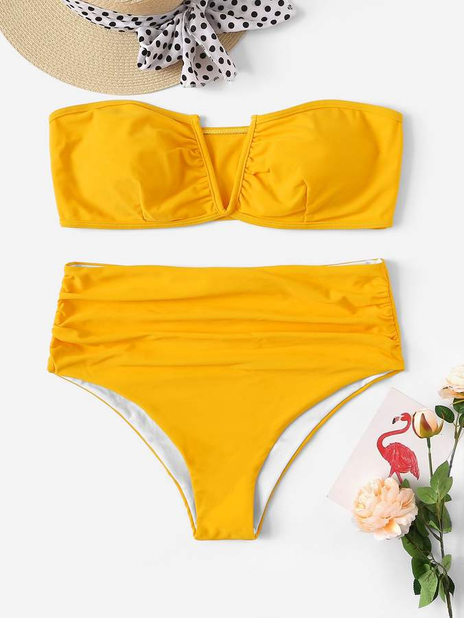 ef39295e42 Shein Yellow Plus Size Swimsuits - ShopStyle
