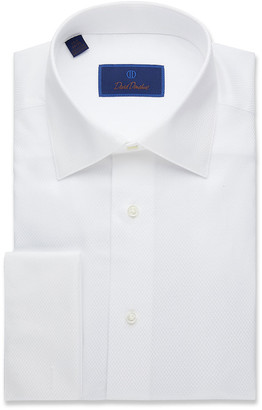 David Donahue Men's Regular-Fit Mini-Box Formal Dress Shirt