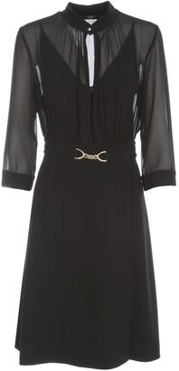 Seventy Dress 3/4s A Line Skirt W/buckle
