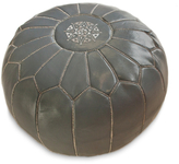 nuLoom Leather Moroccan Ottoman