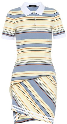 Y/Project Striped cotton pique dress