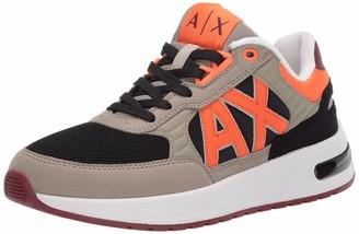 Armani Exchange A|X Men's Bold Color Mid Top Lace Up Sneaker