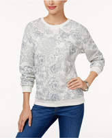 Karen Scott Petite Printed Sweatshirt, Created for Macy's