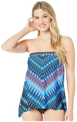 Miraclesuit Marrakech Bandini Tankini Top (Blue) Women's Swimwear