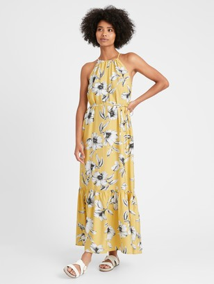 Banana Republic Petite Halter Maxi Dress