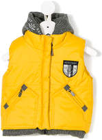 Lapin House padded sleeveless hooded jacket