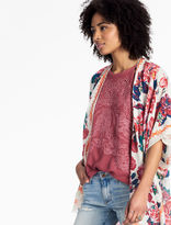 Lucky Brand Embroidered Cut Out Top
