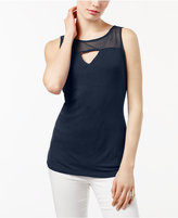 INC International Concepts Keyhole Illusion Top, Created for Macy's