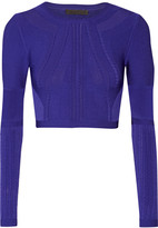 Cushnie et Ochs Cropped stretch-knit top