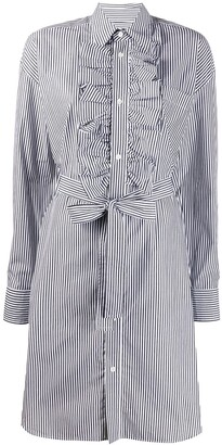 Essentiel Antwerp Striped-Print Shirt Dress