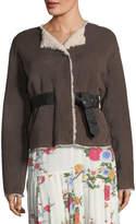 Isabel Marant Alison Belted Suede Shearling Coat