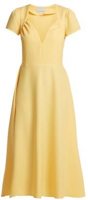 Gioia Bini Tina Crepe Dress - Womens - Yellow