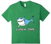 Men's Funny Shark Shirt Lunch Time Small