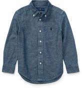 Ralph Lauren 2-7 Indigo Cotton Chambray Shirt