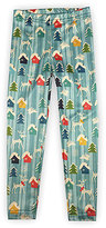Urban Smalls Blue Woodland Moose Leggings - Infant, Toddler & Girls