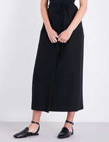 Jil Sander High-rise cotton maxi skirt