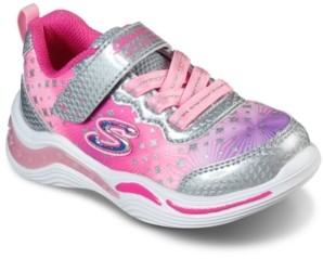 Skechers Toddler Girl's S Lights Power Petals - Painted Daisy Stay-Put Closure Light-Up Training Sneakers from Finish Line